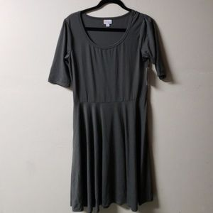 NWT Dark Gray Lularoe XL Nicole Dress